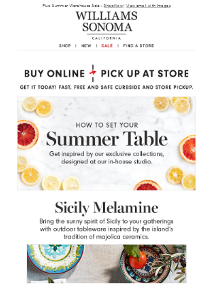 How to set your summer table