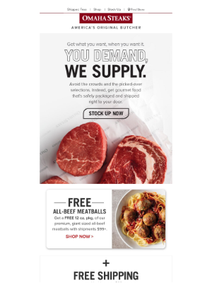 2 Days Only: Free Shipping & Free Meatballs