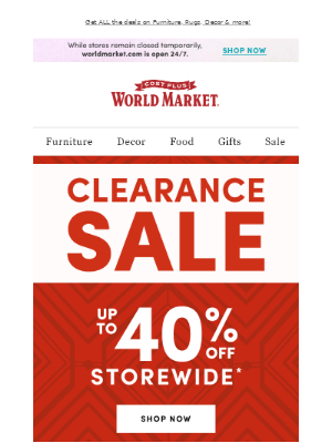 🔥 Happening NOW: Up to 40% off HOT Clearance deals! 🔥
