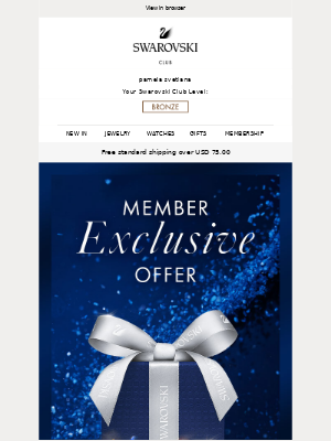 Swarovski - Your member exclusive offer ends soon