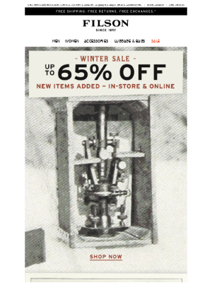 Save Up To 65% at the Winter Sale
