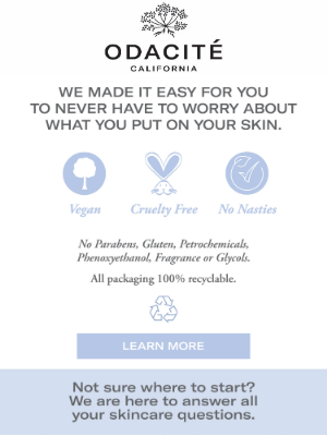 Odacité - Talk to one of our skin experts