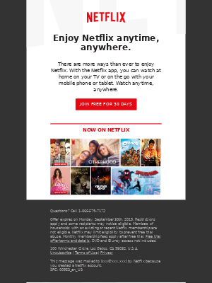 Try Netflix free for 30 days.