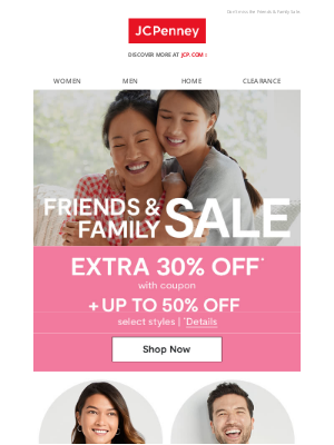 JCPenney - EXTRA 30% OFF expires soon!