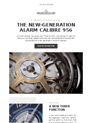 Calibre 956: Everything has changed. But its alarm.