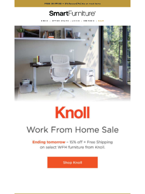 Ends Tomorrow: Knoll Work From Home Sale