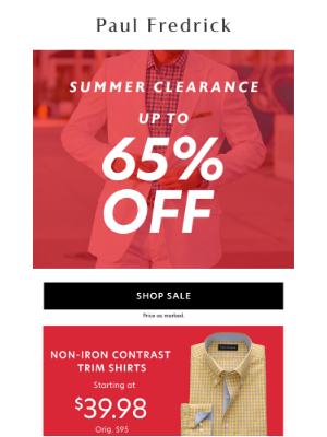 Paul Fredrick - Summer's best sale: Up to 65% off.