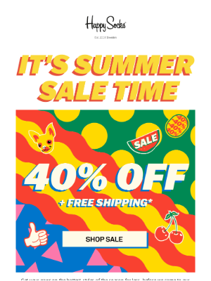 40% off   Summer Sale is here!🔥