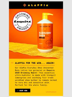 Alaffia - Alaffia for the win....again!