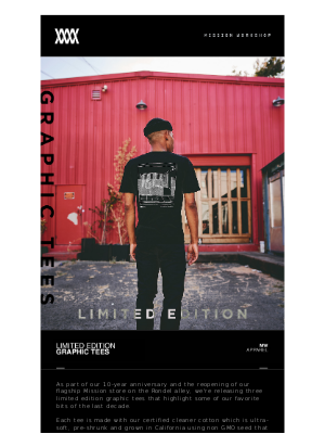 [New] Limited Edition Graphic Tees // MISSION WORKSHOP / ACRE