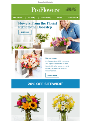 20% OFF Flowers Delivered Today - Guaranteed Fresh!