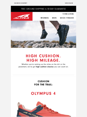 Altra Running - High Cushion Shoes for Road & Trail