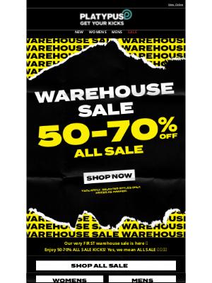 Platypus Shoes (AU) - Want 50-70% off ALL sale? 🤯