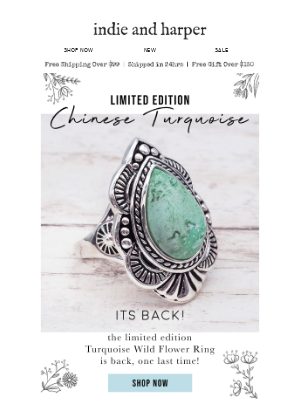 Limited Edition Chinese Turquoise is back... 🦋💙