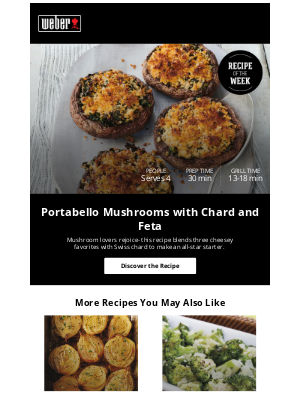 Weber - Clue: This recipe uses mushrooms, chard and feta cheese...