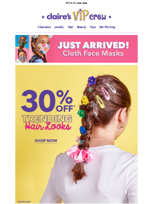 30% OFF Trending hair accessories 👱♀️
