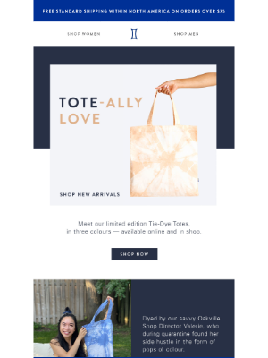 Kit and Ace - Tie-Dye Totes