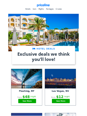 Priceline - Redeem hotel deals and save $