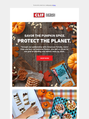 Clif Bar & Co. - Celebrate Fall! And get 20% off CLIF Kid