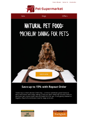 Pet-Supermarket (UK) - Things are about to get cheffy...