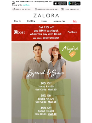 It's the #MAYWESHOP Mega Sale: Take EXTRA 40% off!