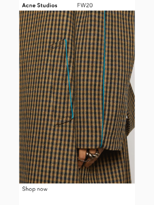 Acne Studios - The checked wool coat