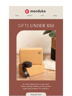 Manduka - Gifts Ideas Under $50