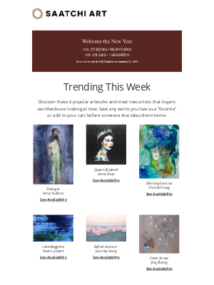Saatchi Art - Trending This Week