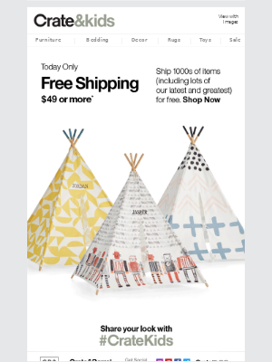 Today Only: Free Shipping on So, So (So) Much
