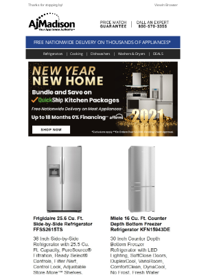 AJ Madison - Deal Alert! Our best offers while inventory lasts