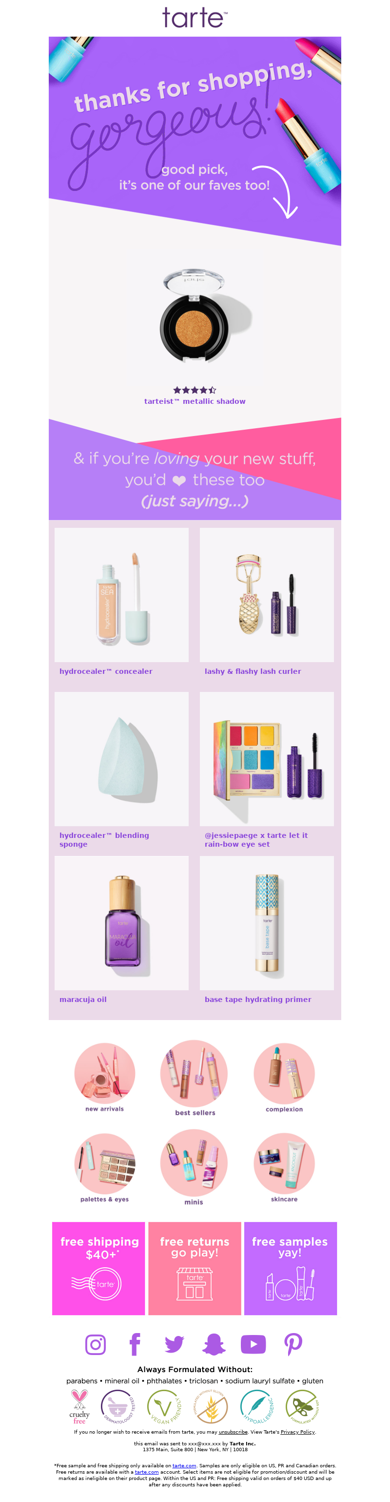Tarte Cosmetics - You're gonna 💜your new item