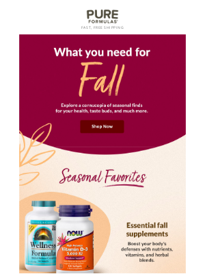 PureFormulas - Healthy essentials for fall 🍁