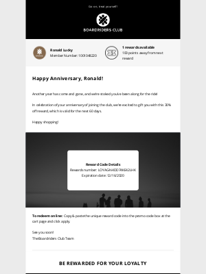 Quiksilver - Happy Anniversary Ronald! Celebrate With A 30% Reward!