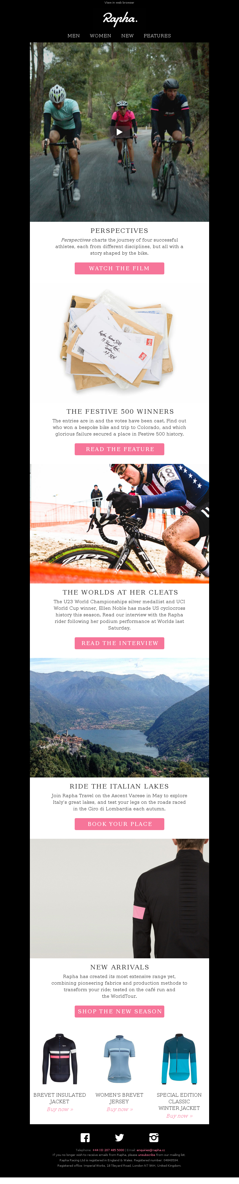 Four athletes share their perspectives on riding. View in web browser Rapha