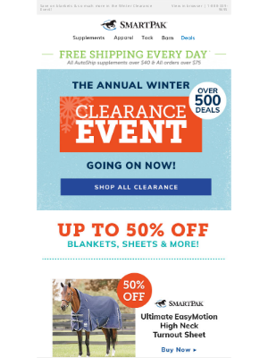 SmartPak Equine - Clearance Blanket DEALS - Hurry, Limited Quantities