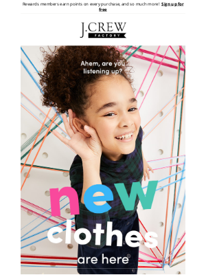 J.Crew Factory - Heads up: supercute, adventure-ready new arrivals for the kids up to 50% off now (!)