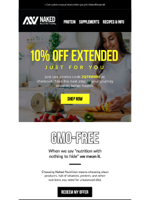 Naked Nutrition - IT'S TIME: Your special discount is waiting