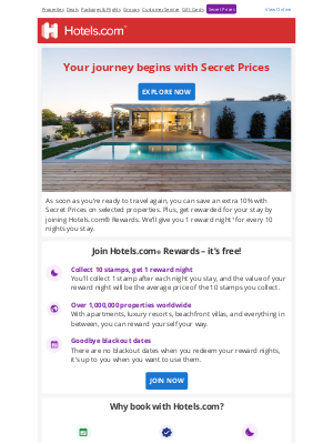 Hotels - Your journey begins with Secret Prices