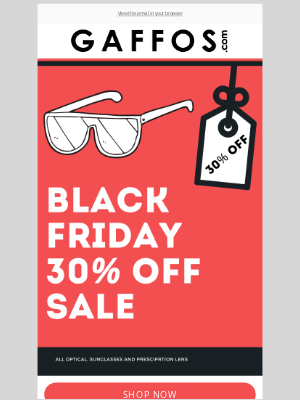 Gaffos - Annual Holiday Blowout Sale! 30% Off, Everything!