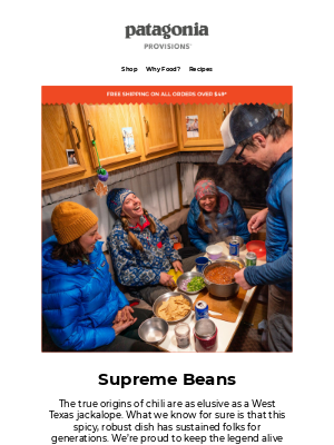 Patagonia Provisions - To bean or not to bean?