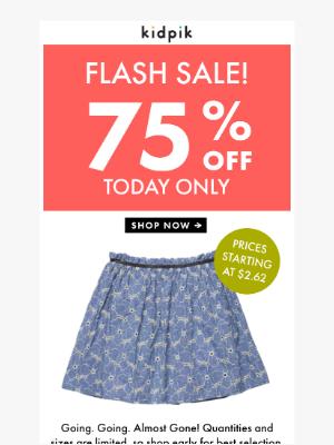 Kidpik - Happening Now! 75% Off Sale