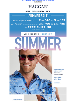 ON SALE! Shorts, Pants, Casual Tops + Free Shipping