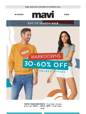 New Markdowns: 30%-60% Off Select Styles