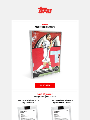 The Topps Company - New MLS Topps NOW®!