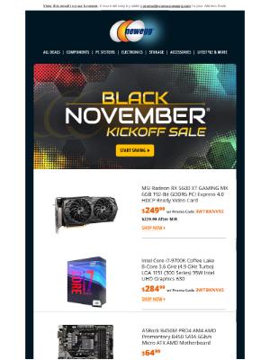 Newegg - Black November® Is Here - $284.99 Intel Core i7-9700K Processor
