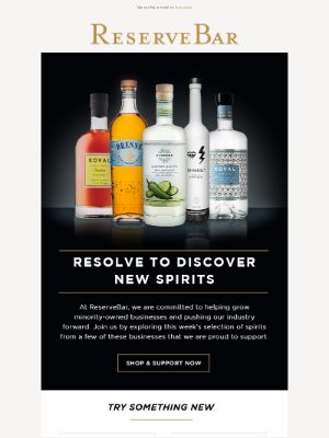 Reserve Bar - Support Minority-Owned Spirits With Us