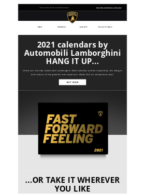 Lamborghini - 2021: start your engines and race into a new year with our official calendars