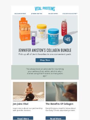 How Jen Aniston Uses Collagen