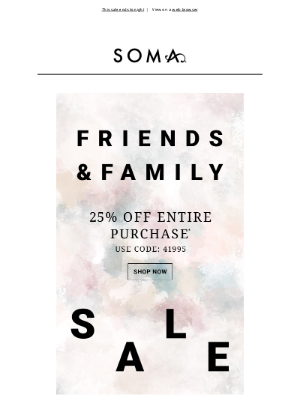 Soma Intimates - You *almost* missed 25% off