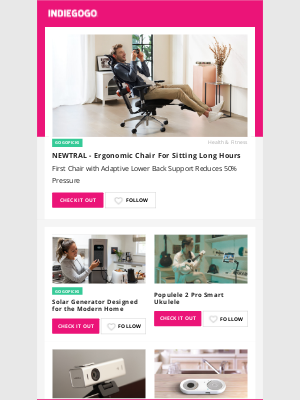 Indiegogo - Making Your Space More Comfortable